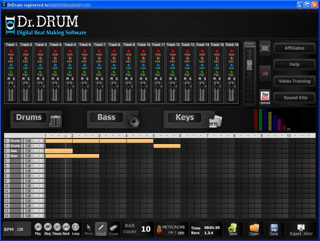 DJ Beats PC Software in Action - Dr Drum Beat Mixing Software